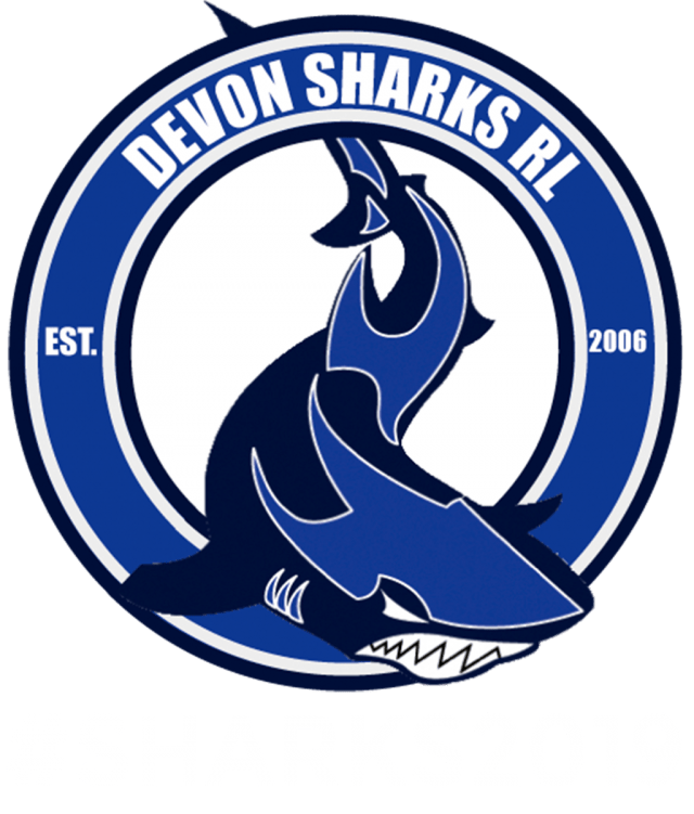 sharks logo with hashtags